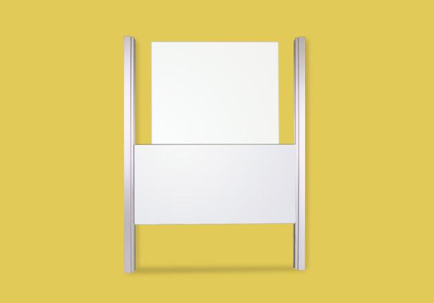 Whiteboard Einflächen Schiebetafel