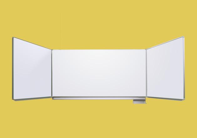 Whiteboard mit Klappen