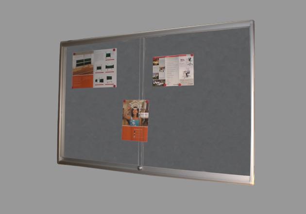 Informationsvitrine Aluminiumrahmen Korklinoleum