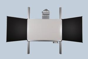Interaktive Tafel-Kombination; Verbindung von interaktivem Board und klassischer Schultafel