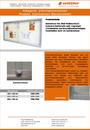 Produktdatenblatt Informationsvitrine Stahlrahmen Weiß