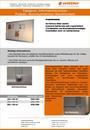 Produktdatenblatt Informationsvitrine Alumoniumrahmen weiß