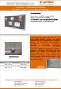 Produktdatenblatt Informationsvitrine Stahlrahmen korklinoleum