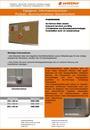 Produktdatenblatt Informationsvitrine Alumoniumrahmen  Naturkork