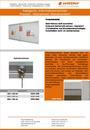 Produktdatenblatt Informationsvitrine Holzrahmen weiß