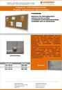 Produktdatenblatt Informationsvitrine Stahlrahmen Naturkork