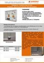 Produktdatenblatt Austellungsvitrine Aluminiumrahmen weiß