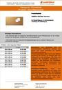 Produktdatenblatt Pinnwände Weichfaserplatte